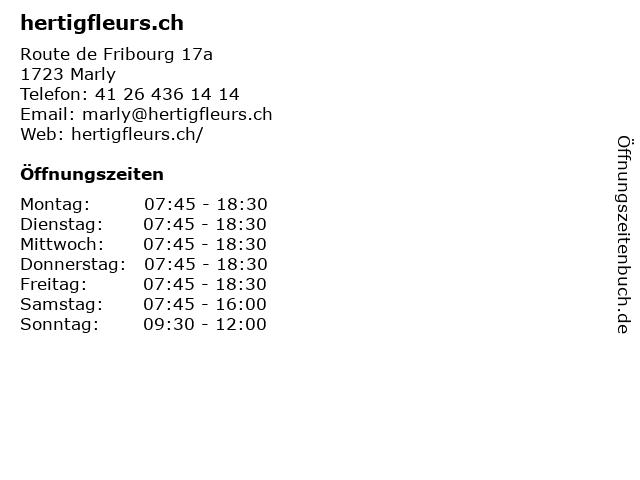 hertigfleurs.ch in Marly: Adresse und Öffnungszeiten