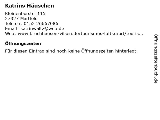 Katrins Häuschen in Martfeld: Adresse und Öffnungszeiten