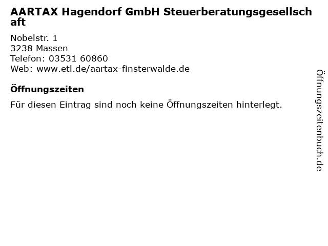 AARTAX Hagendorf GmbH Steuerberatungsgesellschaft In Massen Adresse Und Offnungszeiten