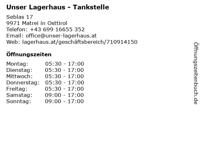 Unser Lagerhaus - Tankstelle in Matrei in Osttirol: Adresse und Öffnungszeiten