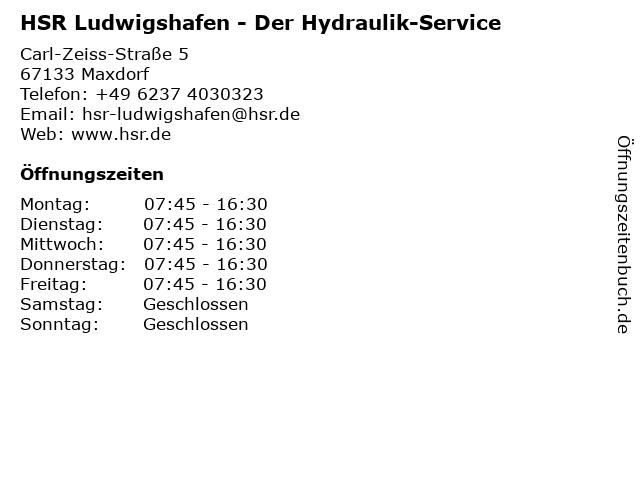 HSR Der Hydraulik-Service in Maxdorf: Adresse und Öffnungszeiten