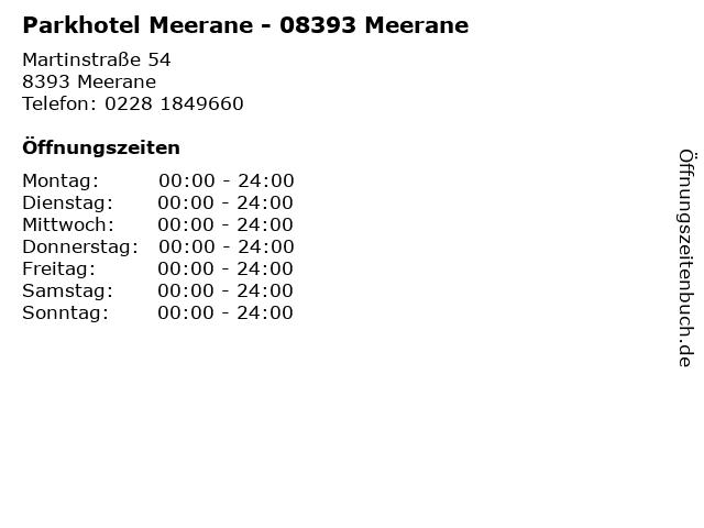 Parkhotel Meerane - 08393 Meerane in Meerane: Adresse und Öffnungszeiten