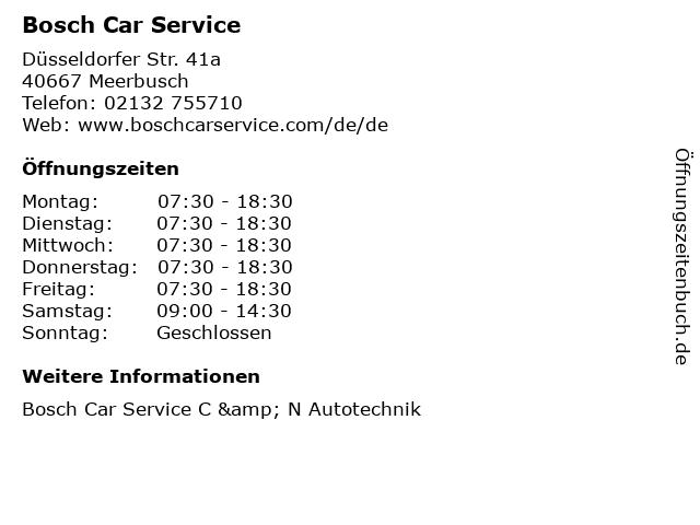 Bosch Car Service in Meerbusch: Adresse und Öffnungszeiten