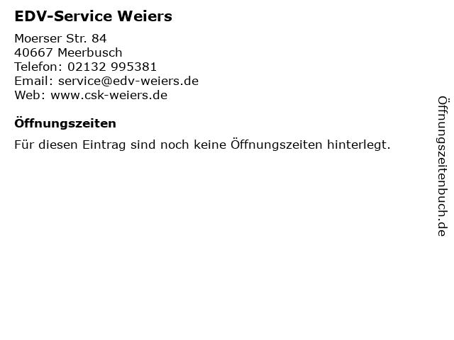 EDV-Service Weiers in Meerbusch: Adresse und Öffnungszeiten
