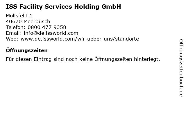 ISS Facility Services Holding GmbH in Meerbusch: Adresse und Öffnungszeiten