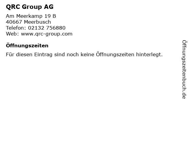 QRC Group AG in Meerbusch: Adresse und Öffnungszeiten
