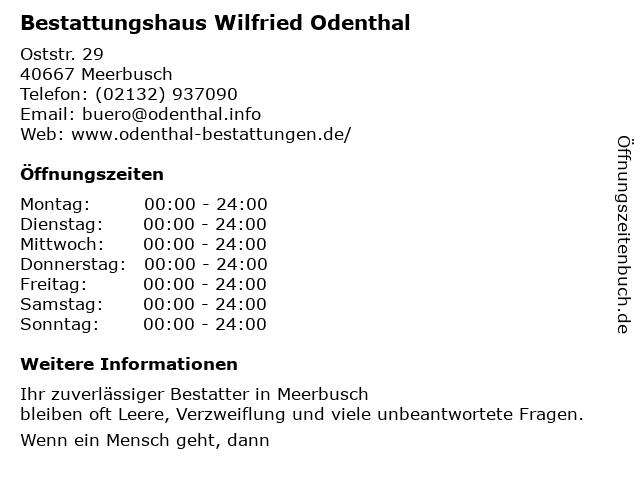 Wilfried Odenthal in Meerbusch: Adresse und Öffnungszeiten