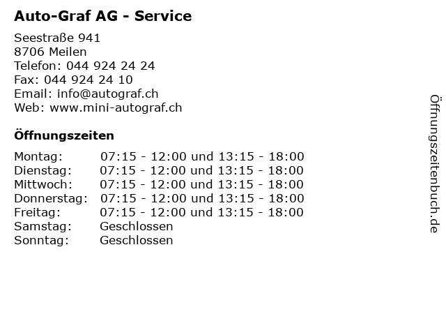 Auto-Graf AG - Service in Meilen: Adresse und Öffnungszeiten