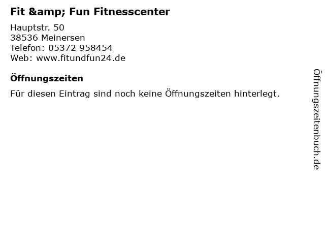 Fit & Fun Fitnesscenter in Meinersen: Adresse und Öffnungszeiten