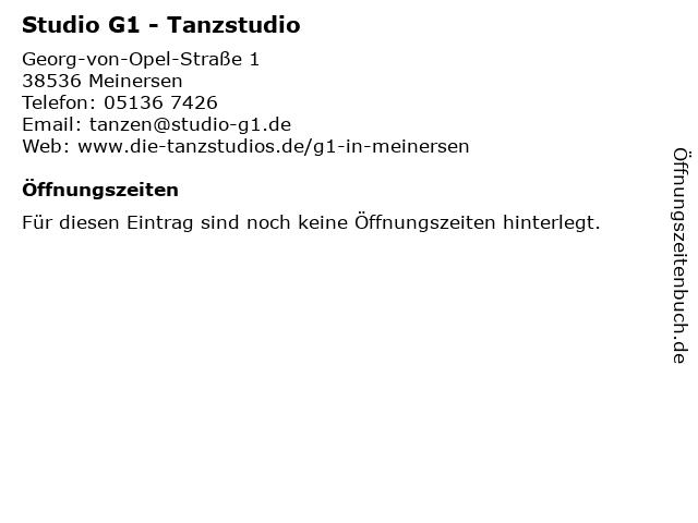 Studio G1 - Tanzstudio in Meinersen: Adresse und Öffnungszeiten