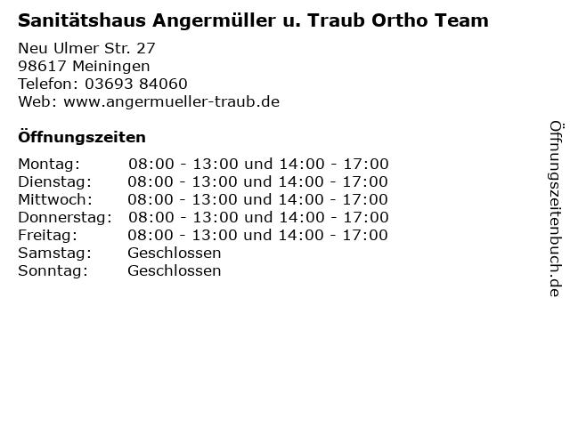 Sanitätshaus Angermüller u. Traub Ortho Team in Meiningen: Adresse und Öffnungszeiten