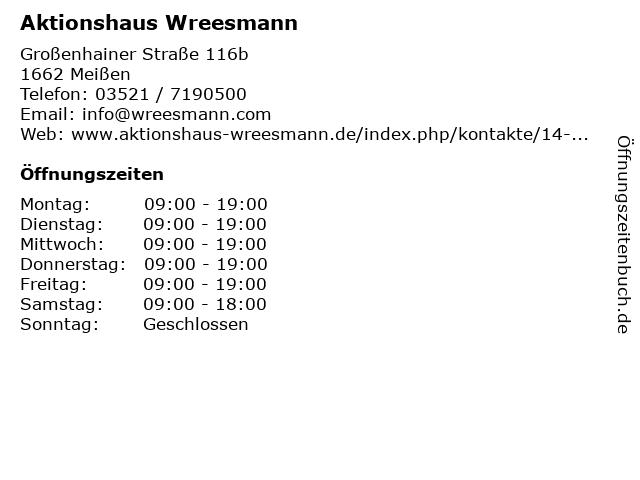 Aktionshaus Wreesmann in Meißen: Adresse und Öffnungszeiten