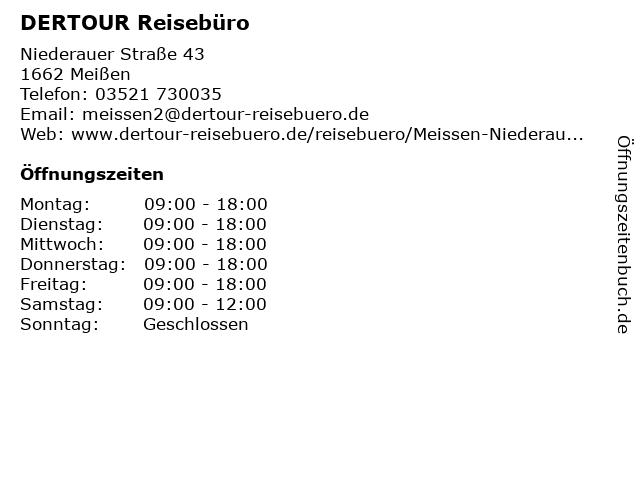 DER Deutsches Reisebüro in Meißen: Adresse und Öffnungszeiten