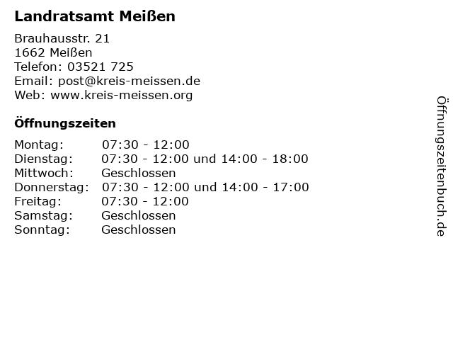 Landratsamt Meißen in Meißen: Adresse und Öffnungszeiten