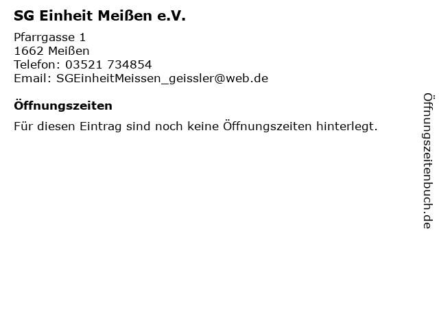 SG Einheit Meißen e.V. in Meißen: Adresse und Öffnungszeiten