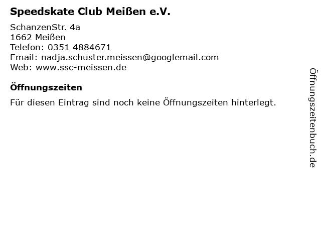 Speedskate Club Meißen e.V. in Meißen: Adresse und Öffnungszeiten