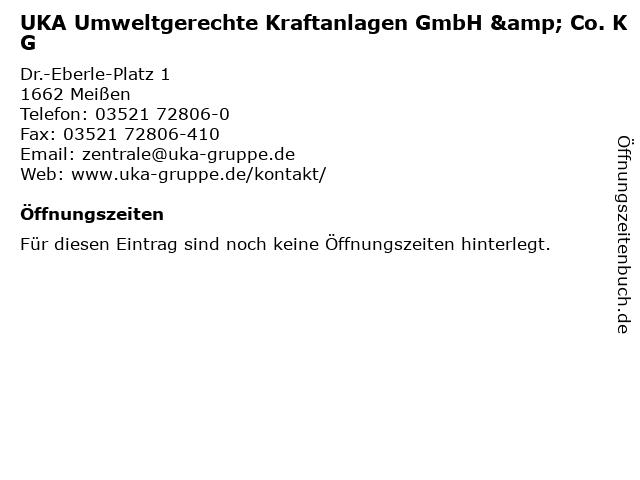 UKA Umweltgerechte Kraftanlagen GmbH & Co. KG in Meißen: Adresse und Öffnungszeiten
