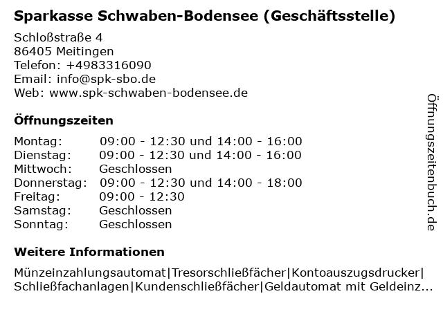 Kreissparkasse Augsburg - Geschäftsstelle Meitingen in Meitingen: Adresse und Öffnungszeiten
