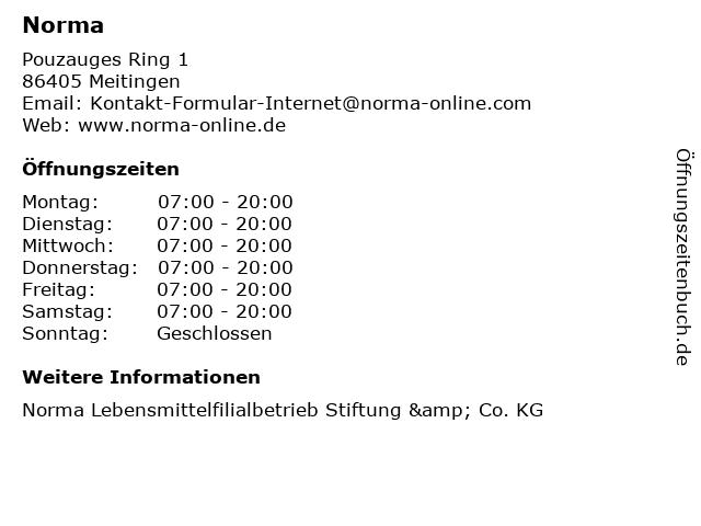 Norma in Meitingen: Adresse und Öffnungszeiten