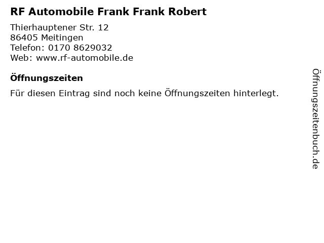 RF Automobile Frank Frank Robert in Meitingen: Adresse und Öffnungszeiten