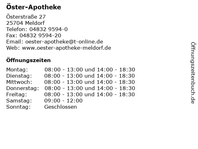 Öster-Apotheke in Meldorf: Adresse und Öffnungszeiten
