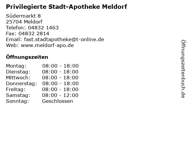 Privilegierte Stadt-Apotheke Meldorf in Meldorf: Adresse und Öffnungszeiten