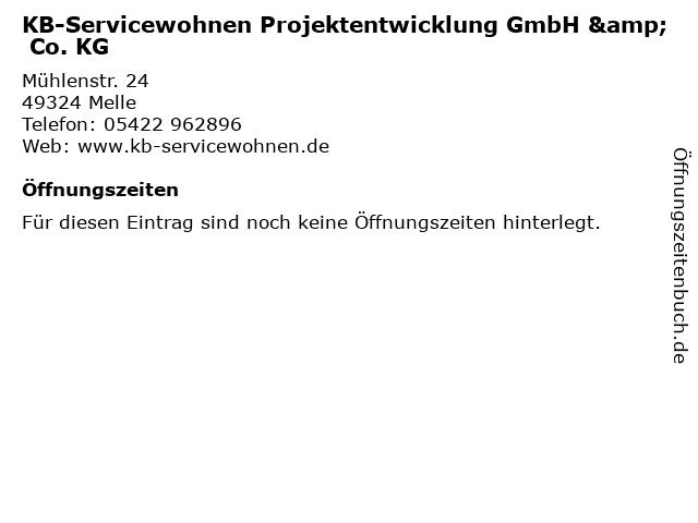 KB-Servicewohnen Projektentwicklung GmbH & Co. KG in Melle: Adresse und Öffnungszeiten