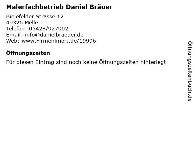 Malerfachbetrieb Daniel Bräuer in Melle: Adresse und Öffnungszeiten
