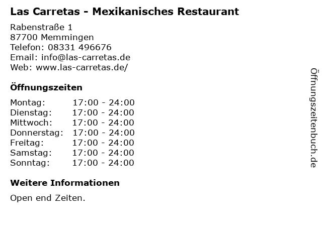 Las Carretas - Mexikanisches Restaurant in Memmingen: Adresse und Öffnungszeiten
