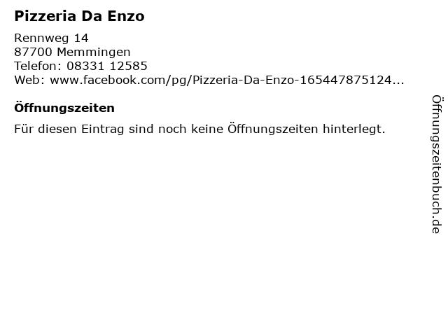 Pizzeria Da Enzo in Memmingen: Adresse und Öffnungszeiten