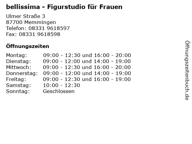 bellissima - Figurstudio für Frauen in Memmingen: Adresse und Öffnungszeiten