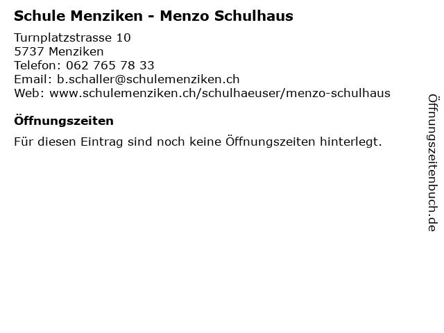 Schule Menziken - Menzo Schulhaus in Menziken: Adresse und Öffnungszeiten