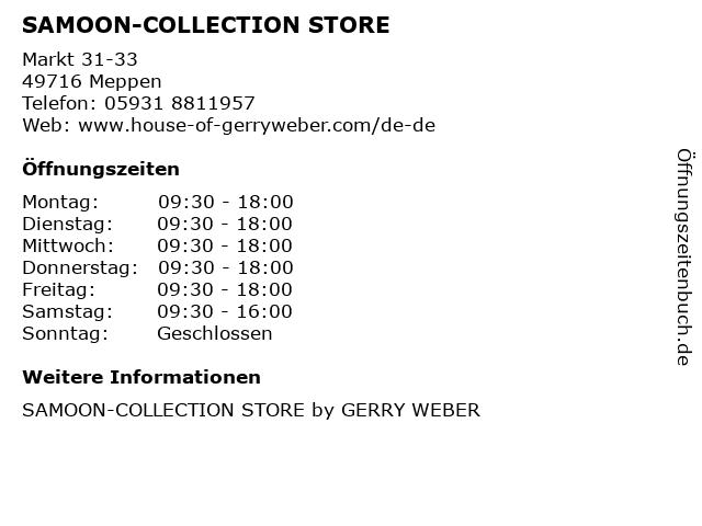 SAMOON-COLLECTION STORE in Meppen: Adresse und Öffnungszeiten