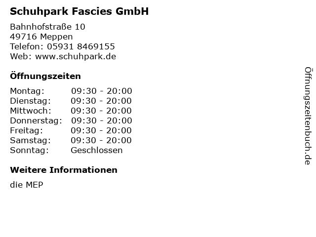 Schuhpark Fascies GmbH in Meppen: Adresse und Öffnungszeiten