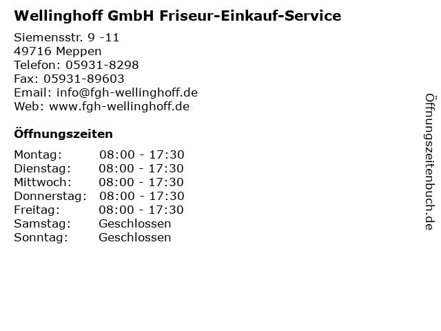 Wellinghoff GmbH Friseur-Einkauf-Service in Meppen: Adresse und Öffnungszeiten