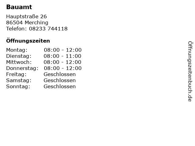 Bauamt in Merching: Adresse und Öffnungszeiten