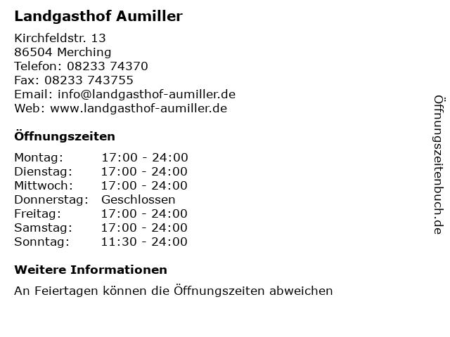 Landgasthof Aumiller in Merching: Adresse und Öffnungszeiten