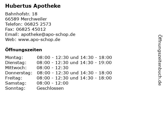 Hubertus Apotheke in Merchweiler: Adresse und Öffnungszeiten