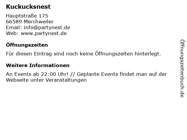 Kuckucksnest in Merchweiler: Adresse und Öffnungszeiten