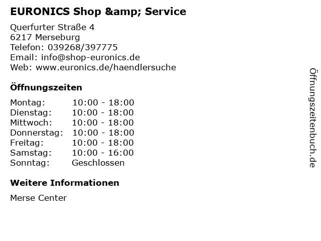 EURONICS Shop & Service in Merseburg: Adresse und Öffnungszeiten