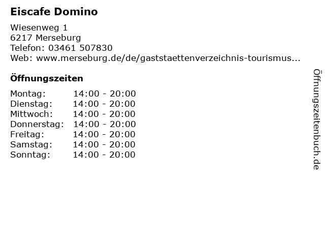 Eiscafe Domino in Merseburg: Adresse und Öffnungszeiten