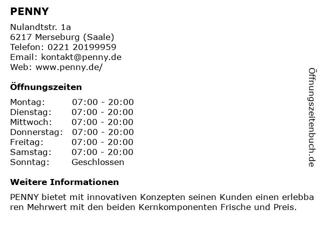 PENNY-Markt Discounter in Merseburg (Saale): Adresse und Öffnungszeiten