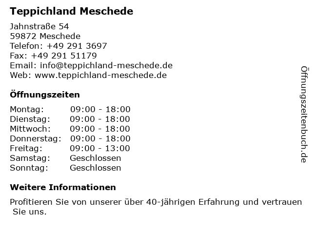 ᐅ Offnungszeiten Teppichland Meschede Jahnstr 54 In Meschede