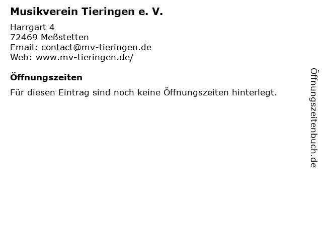 Musikverein Tieringen e. V. in Meßstetten: Adresse und Öffnungszeiten