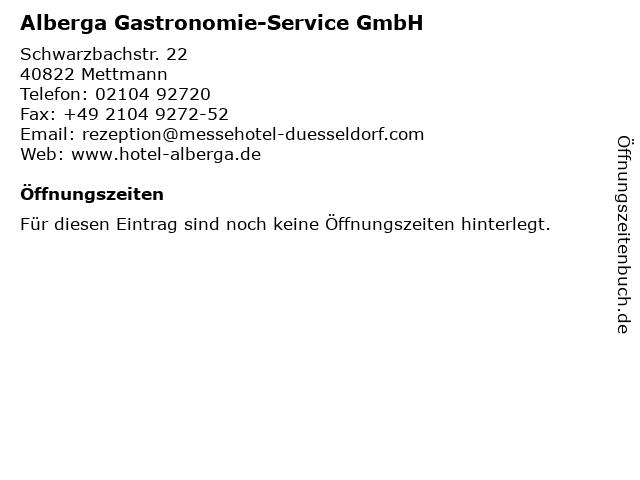 Alberga Gastronomie-Service GmbH in Mettmann: Adresse und Öffnungszeiten