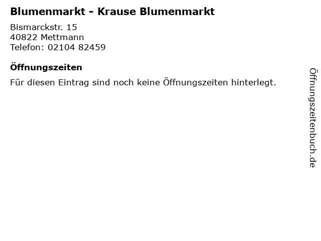 Blumenmarkt - Krause Blumenmarkt in Mettmann: Adresse und Öffnungszeiten