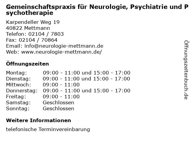 neurologe mettmann
