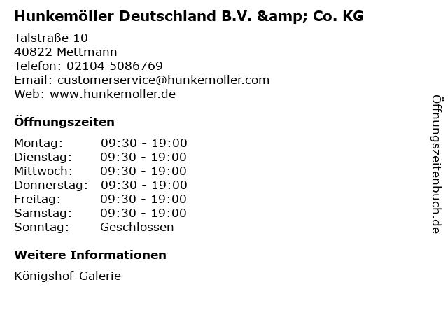 Hunkemöller Deutschland B.V. & Co. KG in Mettmann: Adresse und Öffnungszeiten