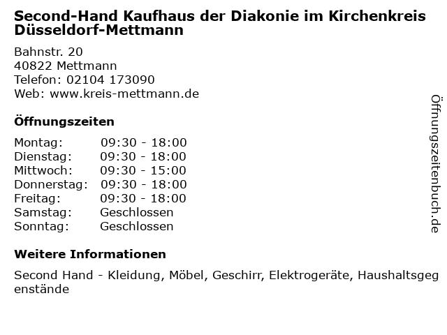 ᐅ öffnungszeiten Second Hand Kaufhaus Der Diakonie Im Kirchenkreis