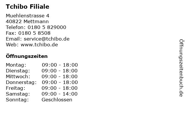 Tchibo Filiale in Mettmann: Adresse und Öffnungszeiten